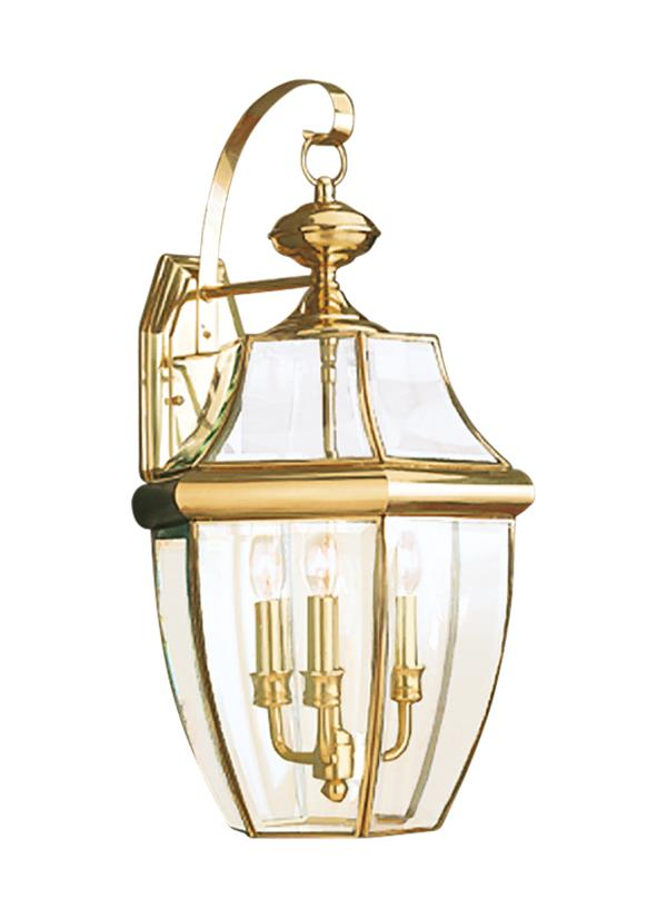 Brass Outdoor Lighting Fixtures 8040 02three light outdoor wall lanternpolished brass workwithnaturefo
