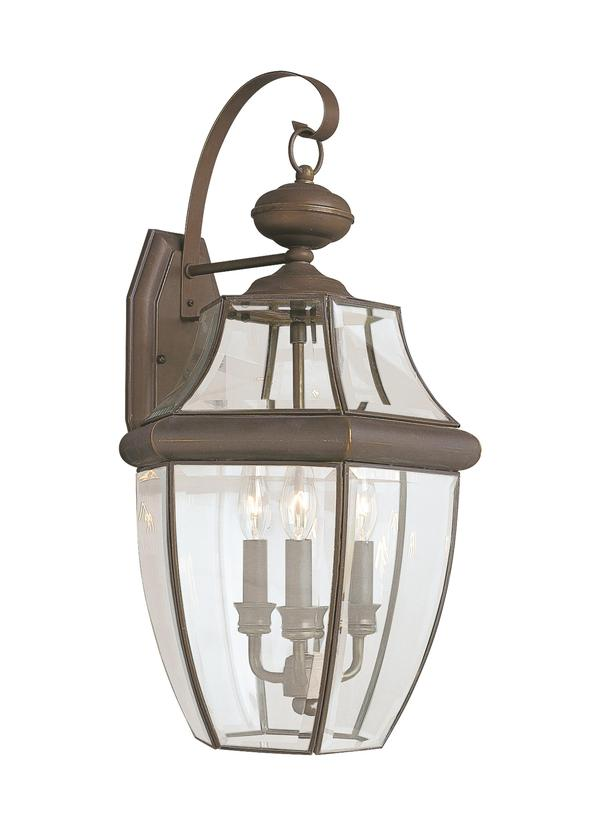 8040 71 Three Light Outdoor Wall Lantern Antique Bronze