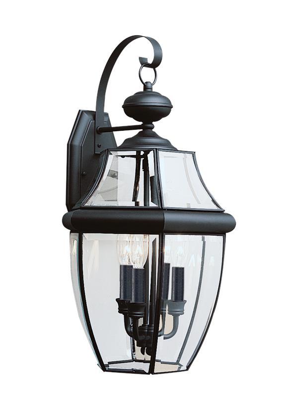 8040en 12 Three Light Outdoor Wall Lantern Black