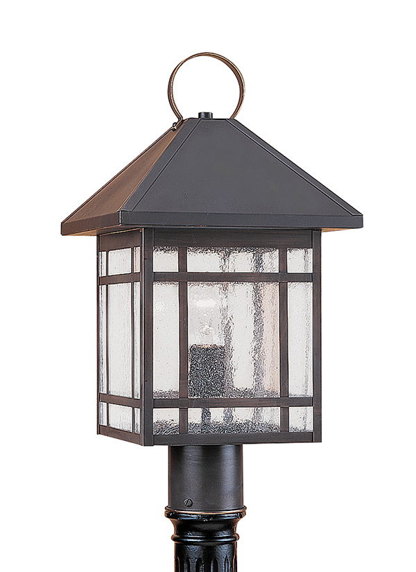 82007 71 one light outdoor post lantern antique bronze