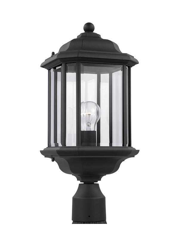 82029 12 One Light Outdoor Post Lantern Black
