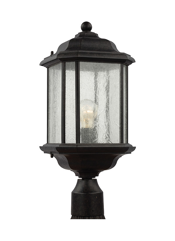 82029 746one light outdoor post lanternoxford bronze aloadofball