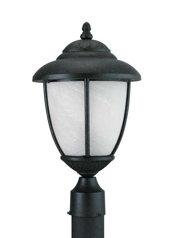 82048 185one light outdoor post lanternforged iron aloadofball Image collections