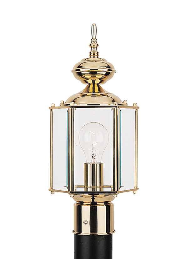 8209 02one light outdoor post lanternpolished brass workwithnaturefo