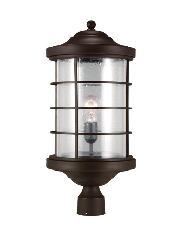 8224401 71 One Light Outdoor Post Lantern Antique Bronze