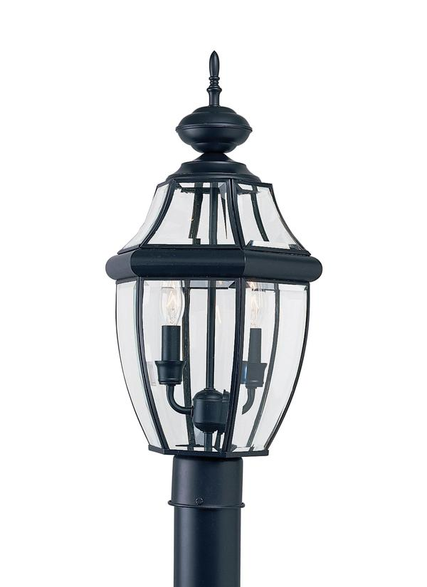 8229 12two light outdoor post lanternblack aloadofball Image collections