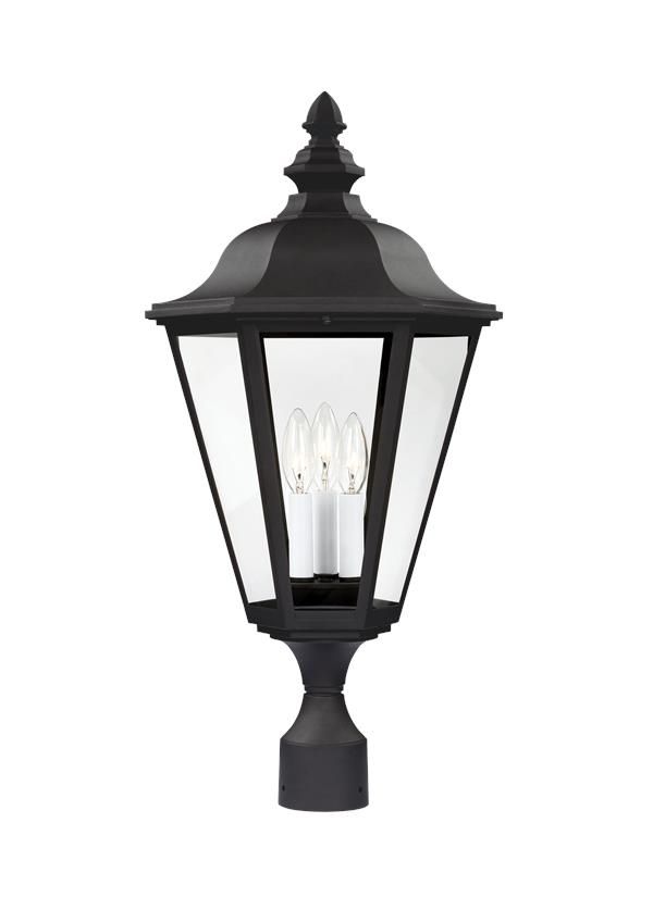8231en 12three light outdoor post lanternblack aloadofball Gallery