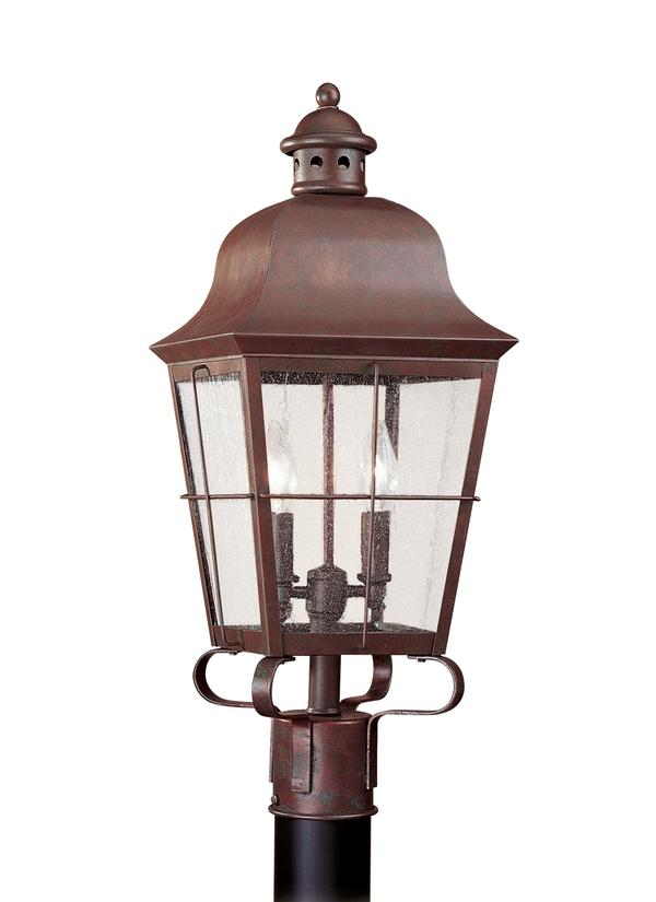 sc 1 st  Seagull Lighting & 8262-44Two Light Outdoor Post LanternWeathered Copper azcodes.com