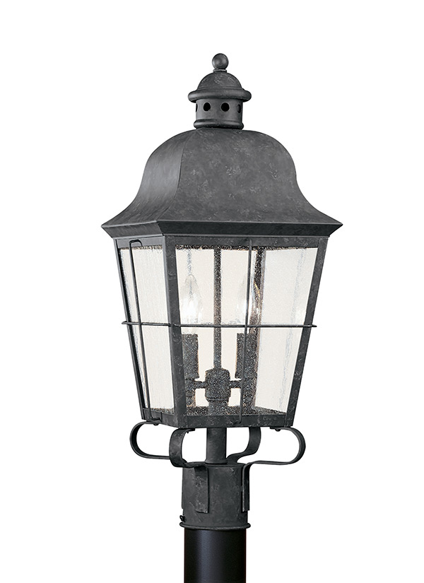 8262 46two light outdoor post lanternoxidized bronze aloadofball Image collections