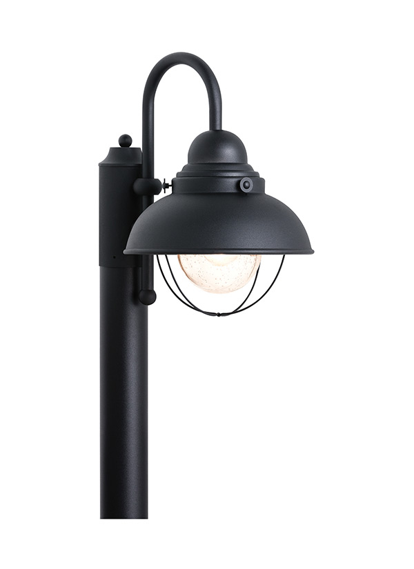 sc 1 st  Seagull Lighting & 8269-12One Light Outdoor Post LanternBlack