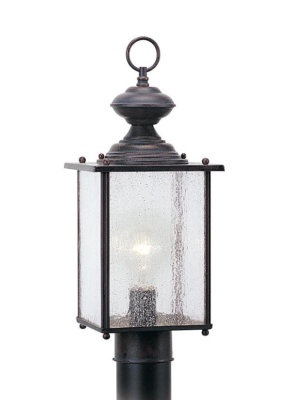 8286 08one light outdoor post lanterntextured rust patina aloadofball Image collections