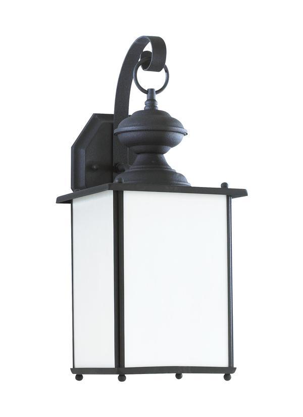 84158d 12 one light outdoor wall lantern black
