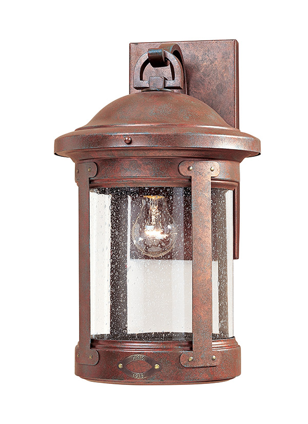 8441 44 One Light Outdoor Wall Lantern Weathered Copper