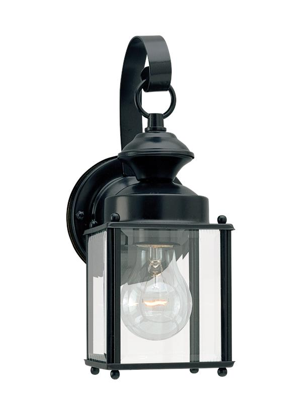 8456 12 One Light Outdoor Wall Lantern Black