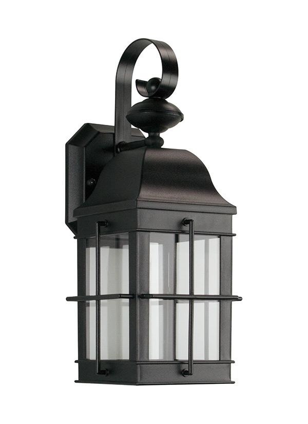 8505891S-12,Small LED Wall Lantern,Black