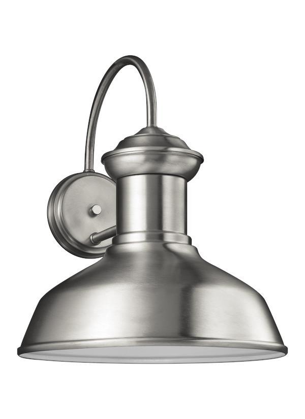 8647701 04large one light outdoor wall lanternsatin aluminum aloadofball Choice Image