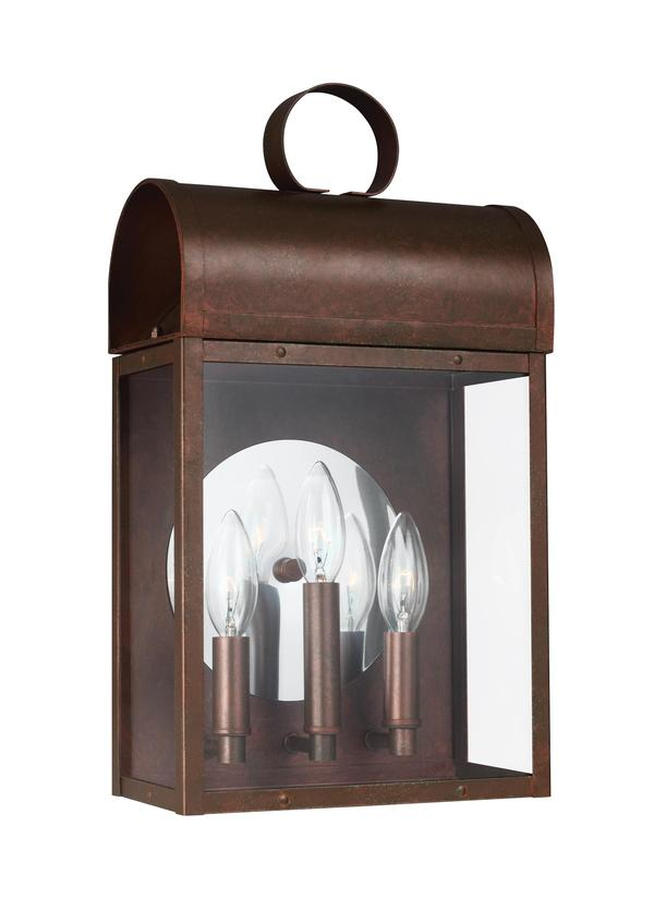 8714803 44three light outdoor wall lanternweathered copper aloadofball