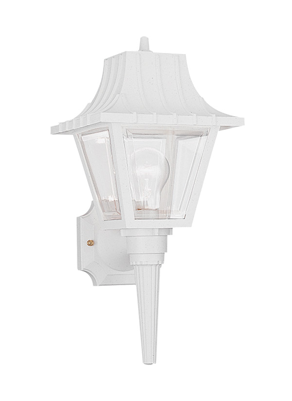 White Outdoor Wall Lantern Part - 44: Seagull Lighting