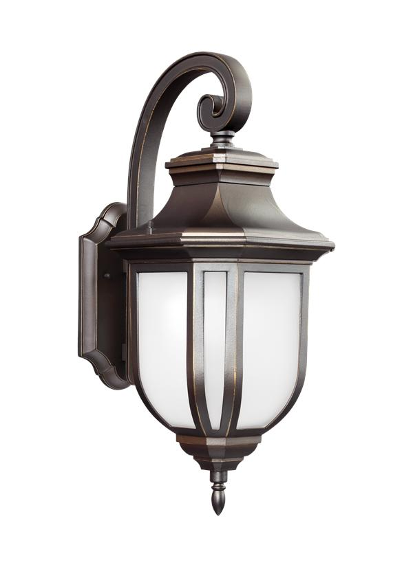 8736391s 71 Large Led Outdoor Wall Lantern Antique Bronze
