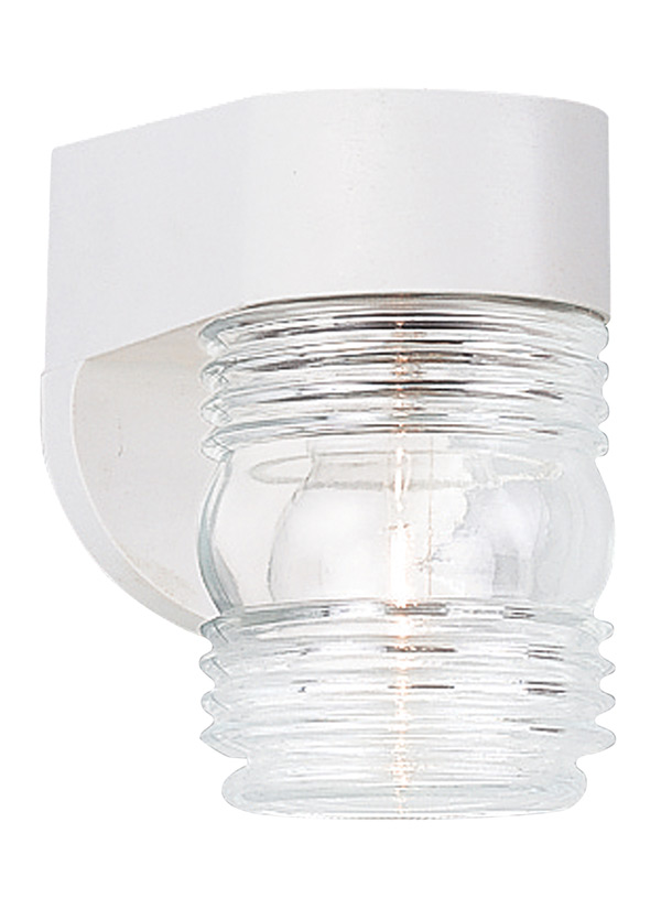 Outdoor Wall One Light White/C