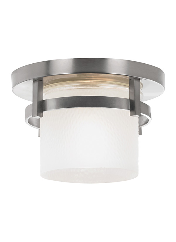 Outdoor Lighting Ceiling Mount 88115 962one light outdoor ceiling flush mountbrushed nickel workwithnaturefo