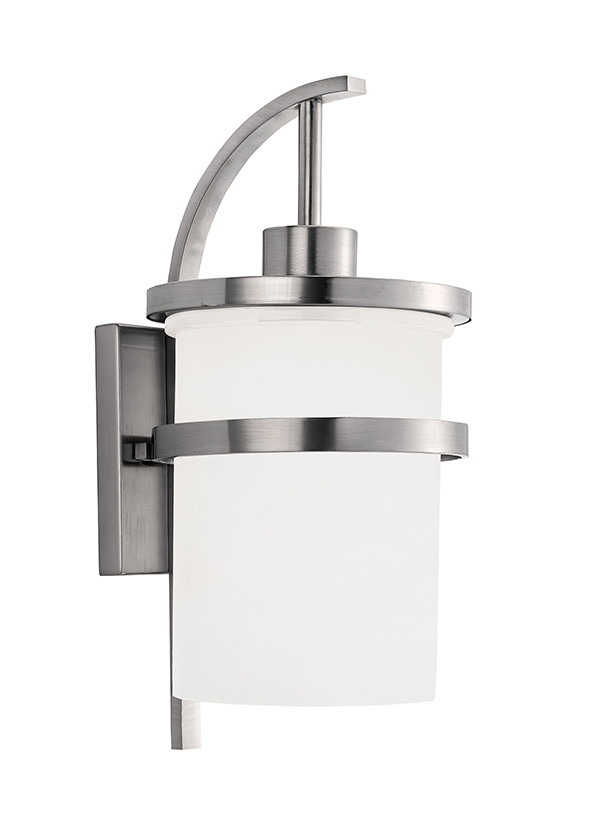 88119 962 One Light Outdoor Wall Lantern Brushed Nickel