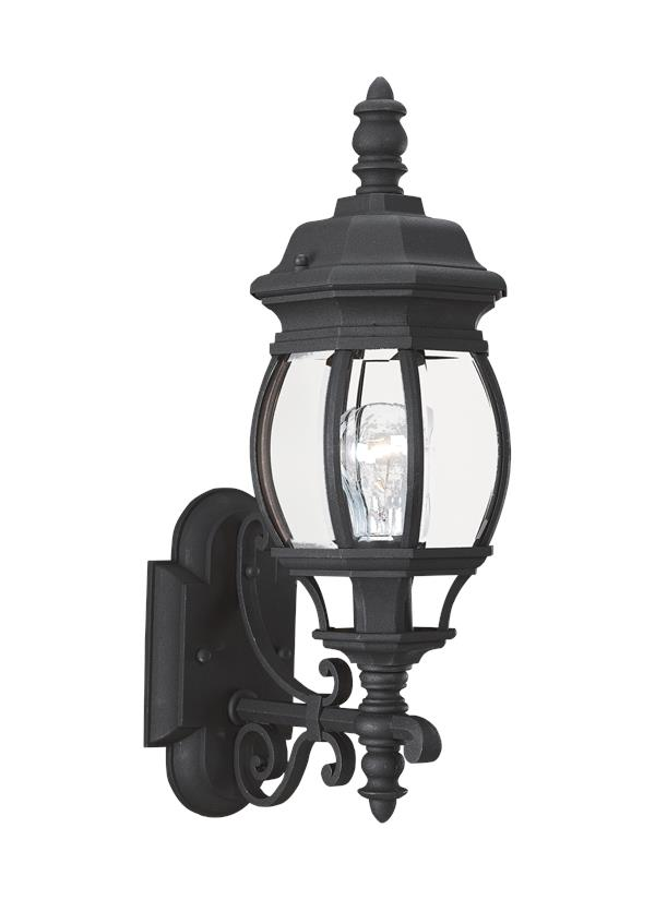 88200 12 One Light Outdoor Wall Lantern Black