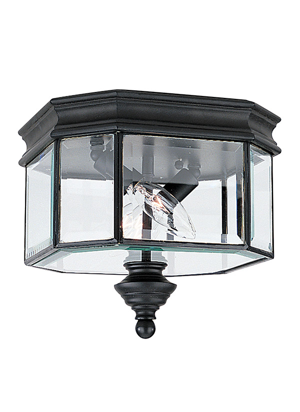 8834 12two light outdoor ceiling flush mountblack aloadofball Images