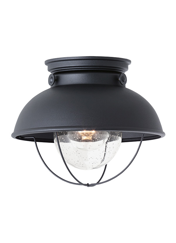 Terrific 8869 12 One Light Outdoor Ceiling Flush Mount Black Download Free Architecture Designs Intelgarnamadebymaigaardcom