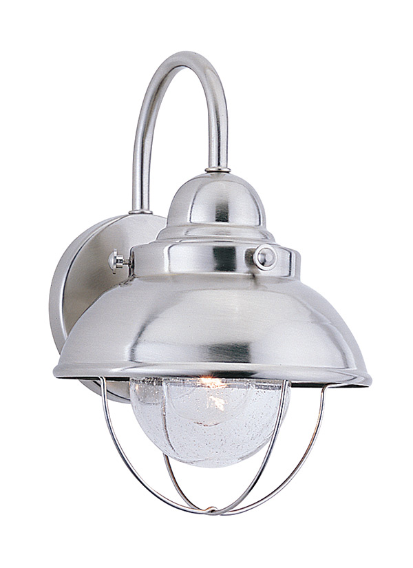 8870 98 one light outdoor wall lantern brushed stainless