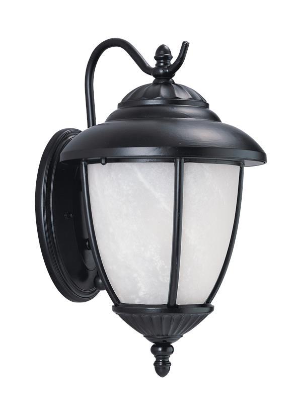 89049pble 12 One Light Outdoor Wall Lantern Black