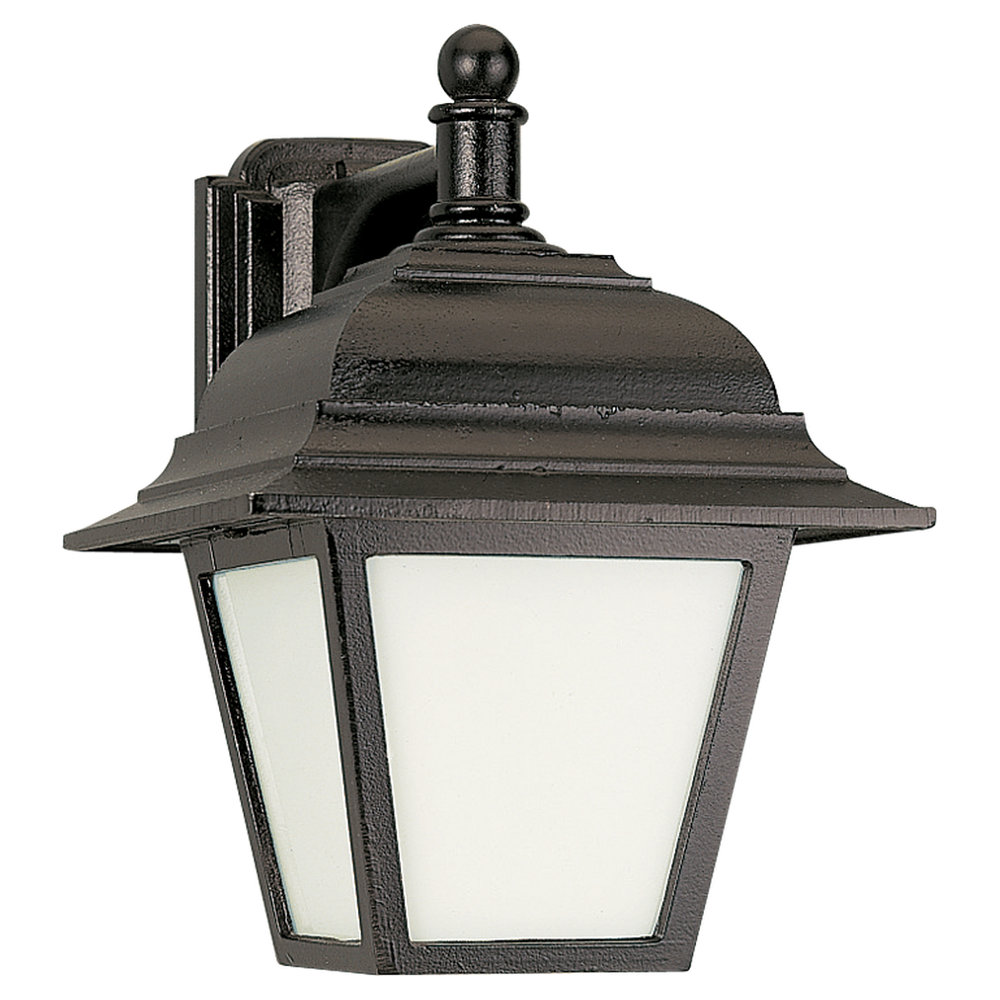 89316pble 12 One Light Outdoor Wall Lantern Black