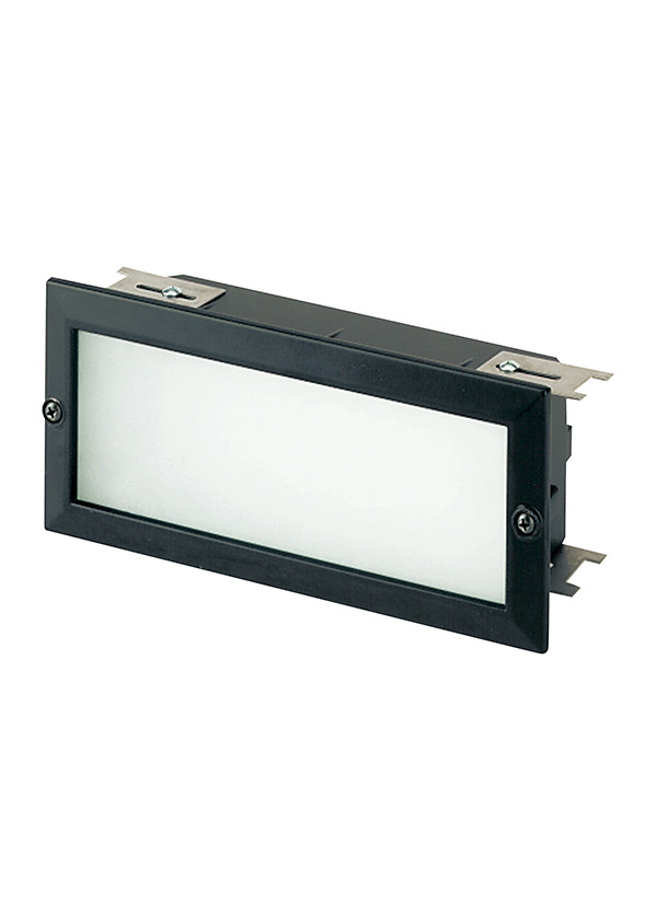 9242 12Two Light Recessed Brick LightBlack