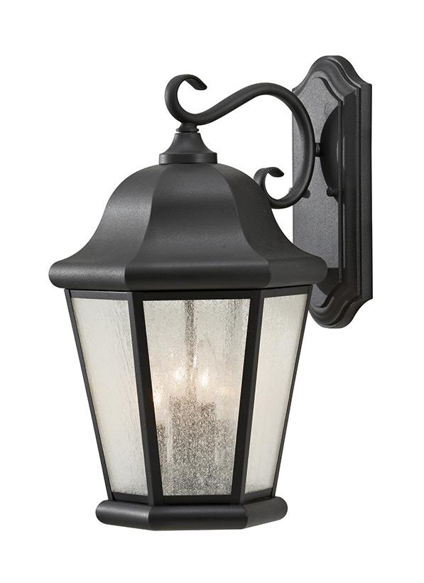 OL5904BK,Extra Large Four Light Outdoor Wall Lantern,Black on