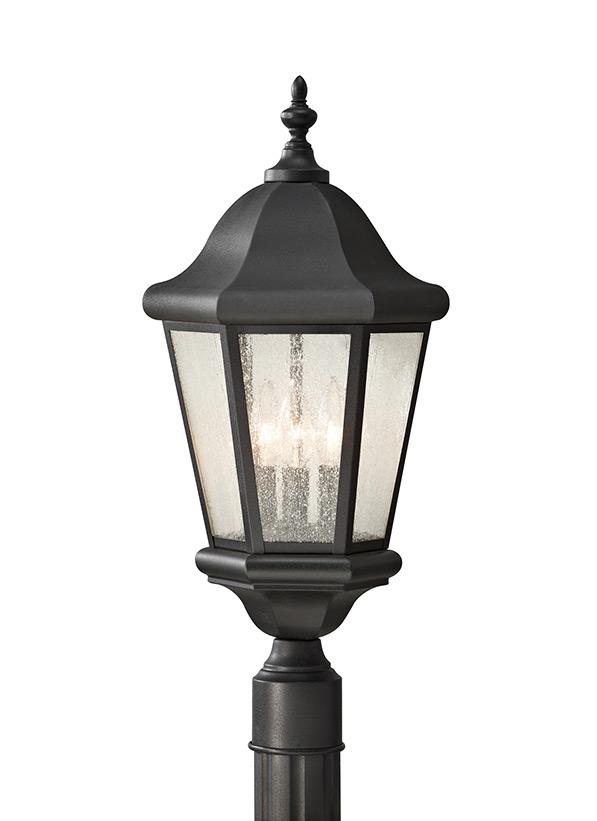 Ol5907bk Three Light Outdoor Post Lantern Black