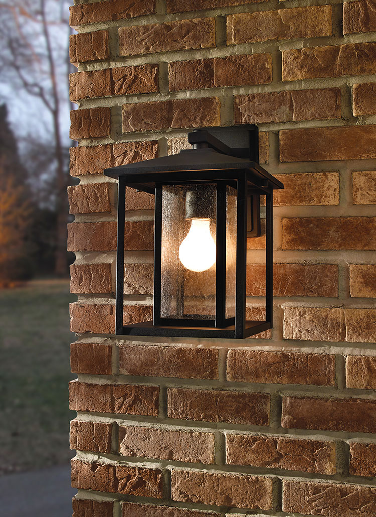 88027-12,One Light Outdoor Wall Lantern,Black