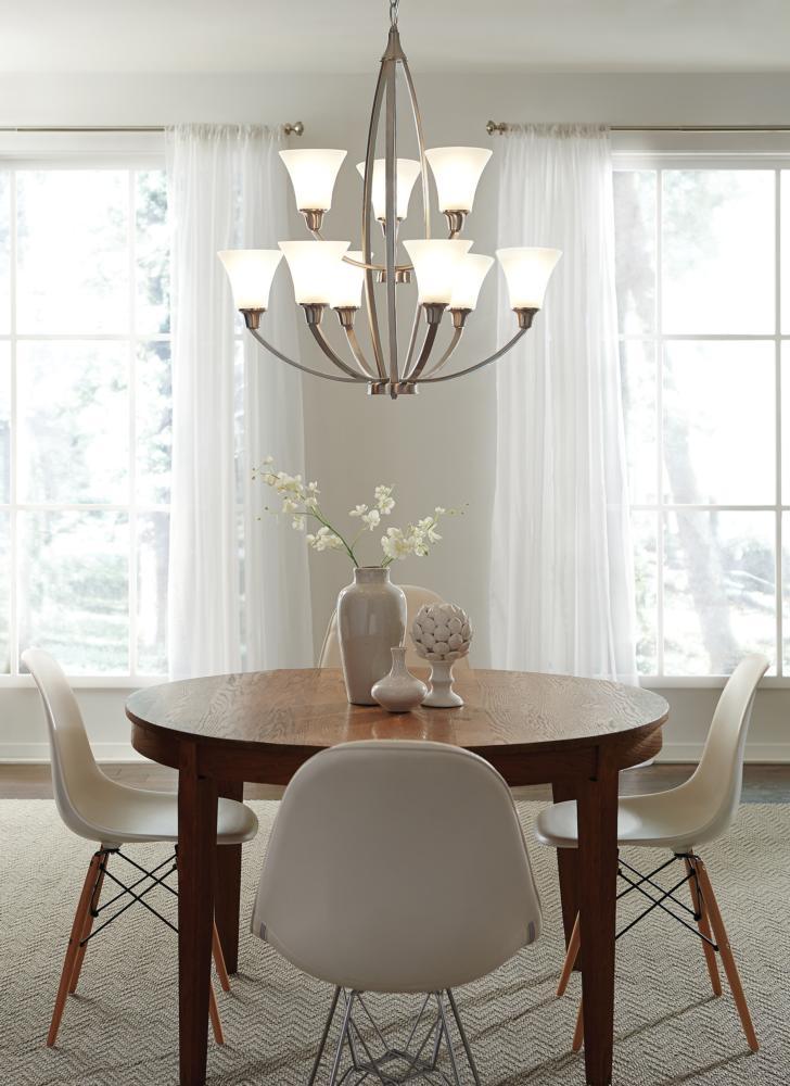 3113205-962,five light chandelier,brushed nickel
