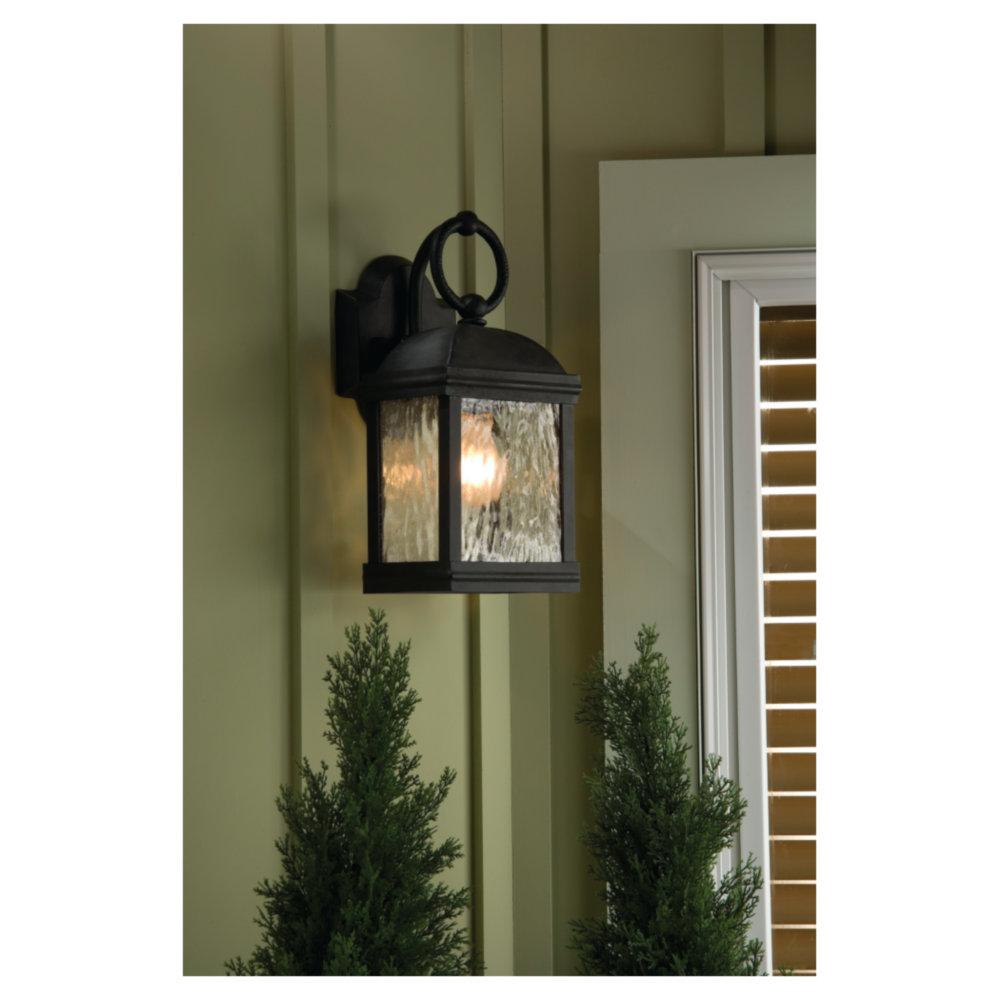 88191 802two light outdoor wall lantern obsidian mist aloadofball Images