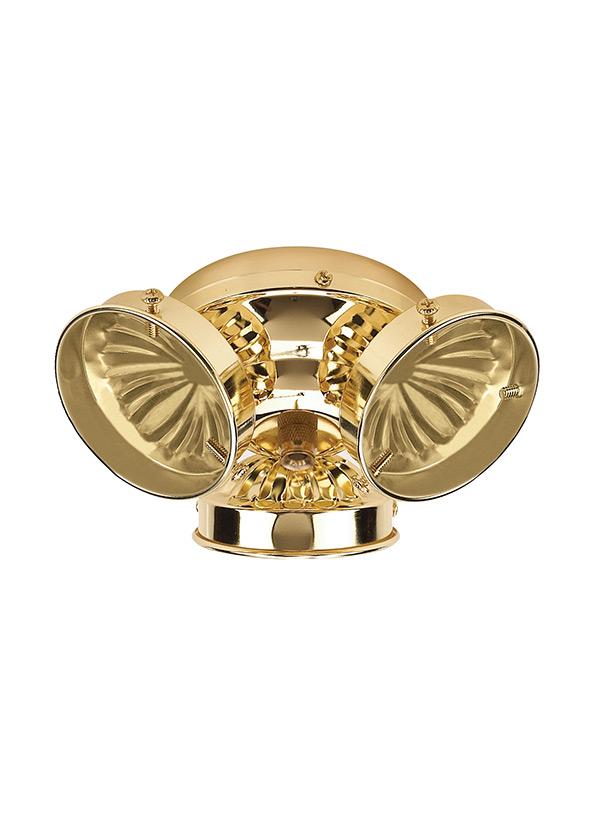 16150b 02 three light ceiling fan light kit polished brass. Black Bedroom Furniture Sets. Home Design Ideas