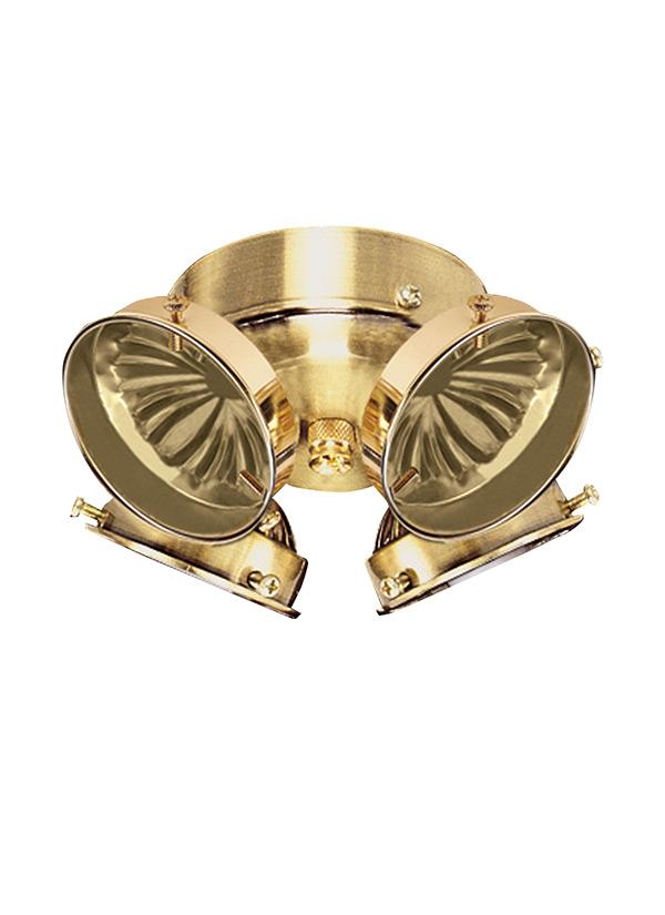 Hunter Polished Brass Ceiling Fan Light Kit : B four light ceiling fan kit polished brass
