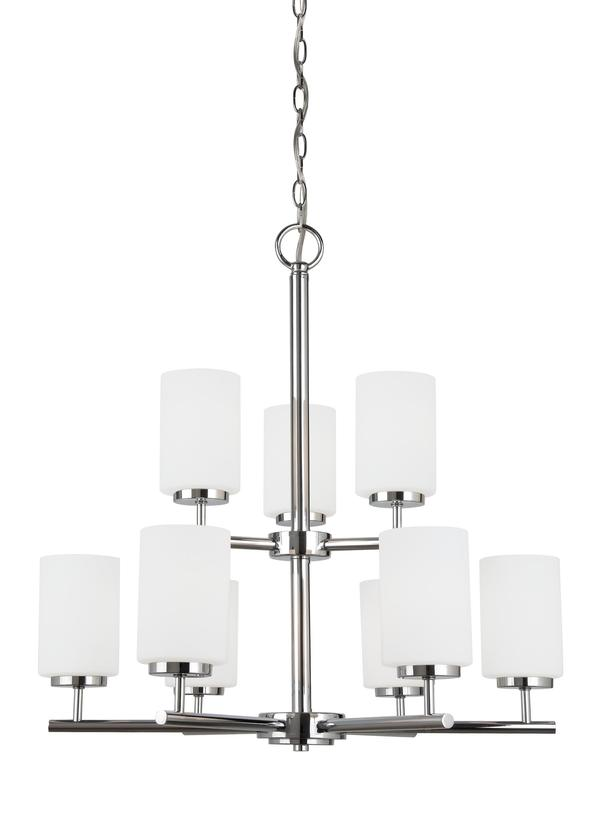 31162 05nine light chandelierchrome