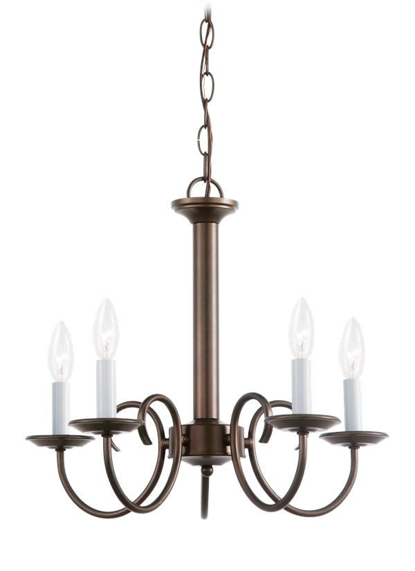 Sea Gull Lighting 61806-782 One Light Mini-Pendant Heirloom Bronze