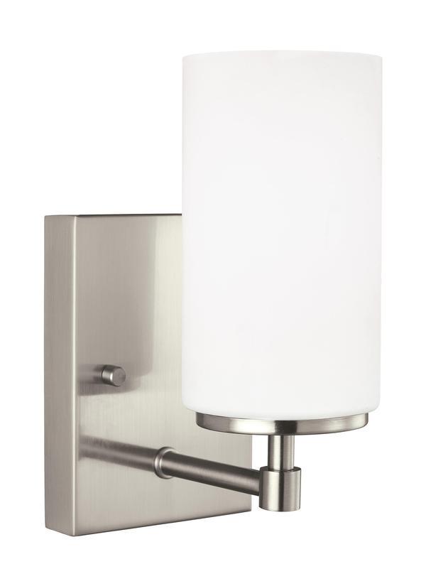 4124601en3 962one light wall bath sconcebrushed nickel aloadofball Images