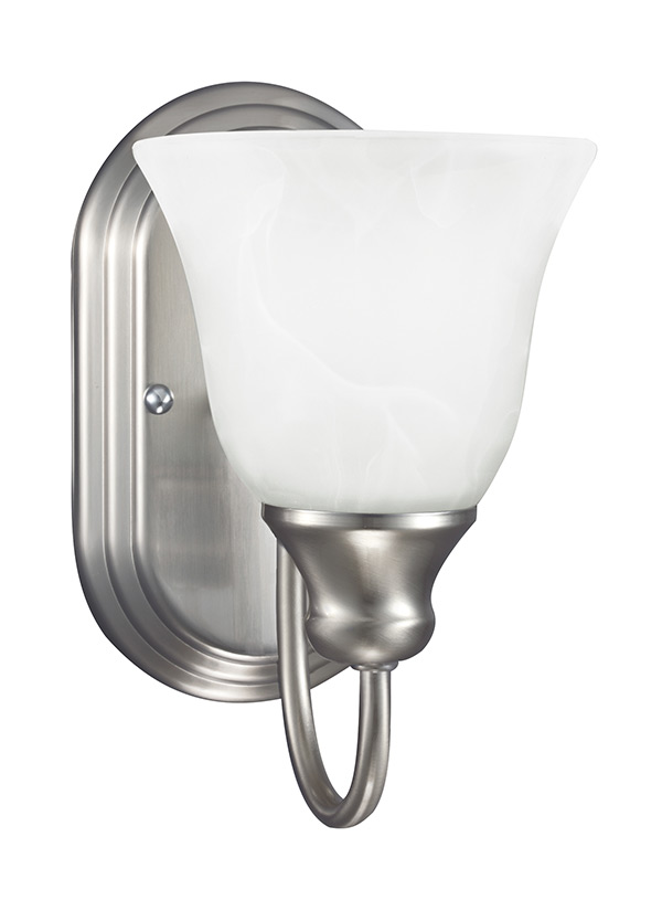 41939-962,One Light Wall / Bath Sconce,Brushed Nickel