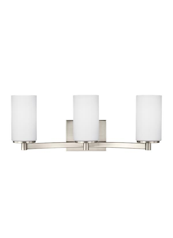 black bathroom lighting 4439103en 962three light wall bathbrushed nickel