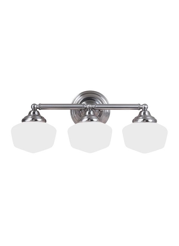Bathroom Lighting Fixtures Usa 44438-962,three light wall / bath,brushed nickel