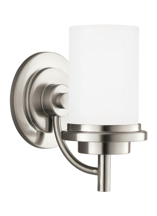 BLEOne Light Wall Bath SconceBrushed Nickel - Satin nickel bathroom sconces