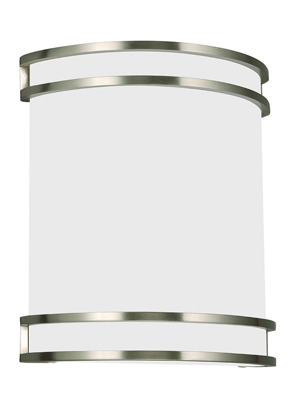 Bathroom Sconces Nickel 49331ble-962,one light wall / bath sconce,brushed nickel