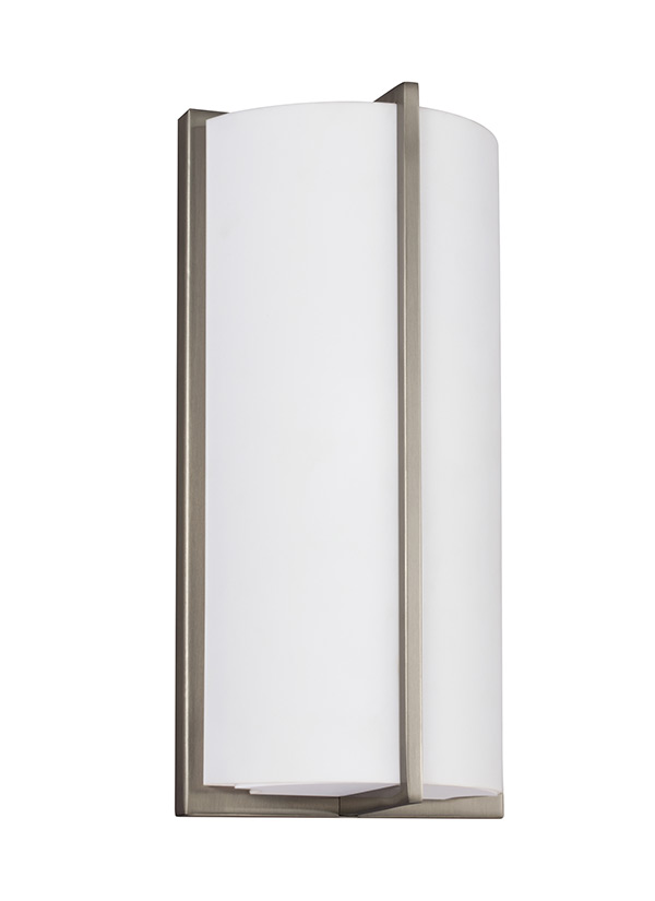 SLED Wall SconceBrushed Nickel - Polished nickel bathroom wall sconces