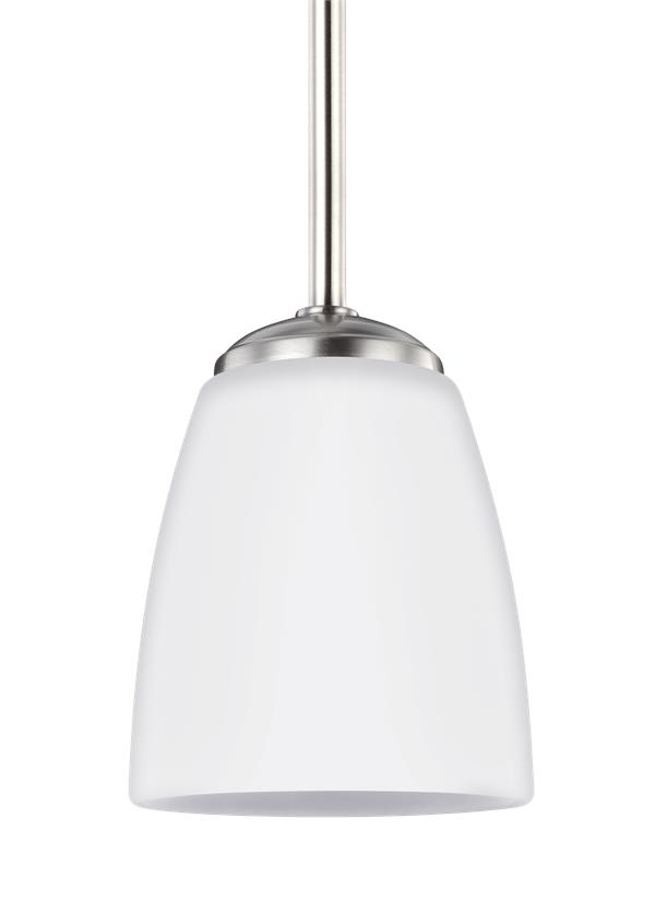 6116601 962 One Light Mini Pendant Brushed Nickel